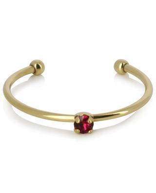 Verstellbarer goldener Ring mit rotem Kristall Paris CAROLINE NAJMAN