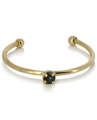 Paris adjustable golden ring with dark blue crystal CAROLINE NAJMAN