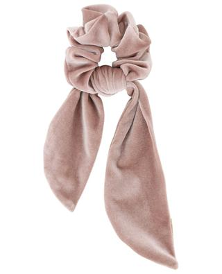Velvet scrunchy with bow detail MARZOLINE MILANO