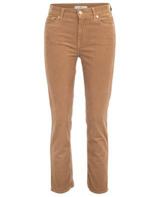 The Straight Crop Portobello fine rib corduroy trousers 7 FOR ALL MANKIND