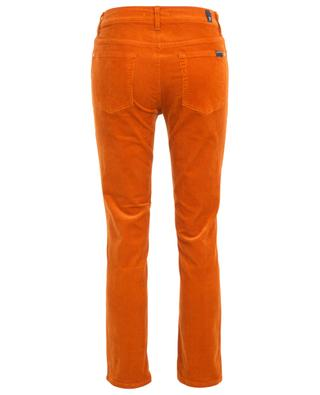 The Straight Crop Cinnamon fine rib corduroy trousers 7 FOR ALL MANKIND