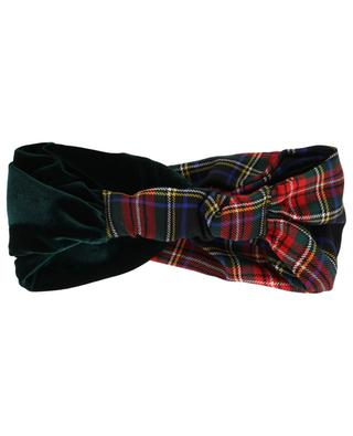 Materialmix-Stirnband mit Tartan Edimburgo MARZOLINE MILANO
