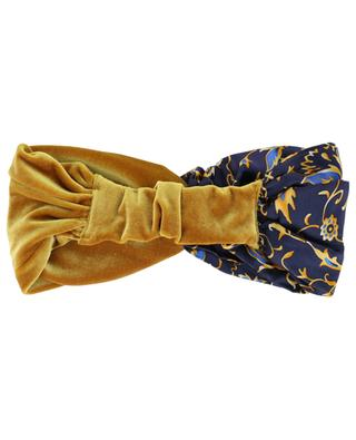 Geblümtes Materialmix-Stirnband Chamonix Gold MARZOLINE MILANO