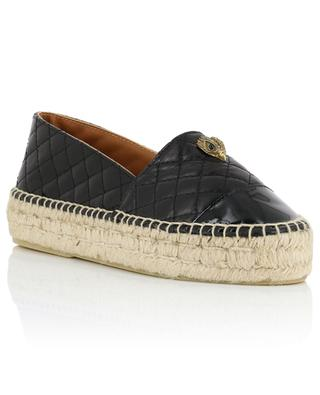 Morella Eagle quilted leather platform espadrilles KURT GEIGER LONDON