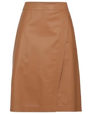 Marat A-line wrap effect leather skirt SPORTMAX