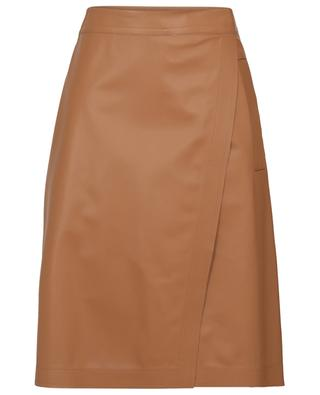 Marat A-line wrap effect leather skirt SPORTMAX