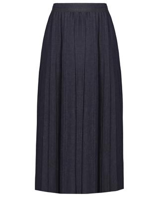 Plissierter Midi-Rock aus Denim Nettare WEEKEND MAXMARA