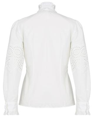 Nocino openwork embroidery adorned poplin blouse WEEKEND MAXMARA