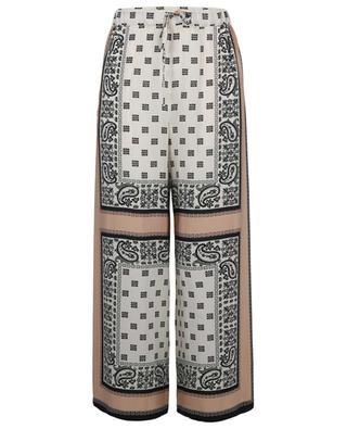 Cabiria scarf print wide-leg silk trousers WEEKEND MAXMARA