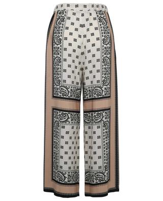 Pantalon large en soie imprimé foulard Cabiria WEEKEND MAXMARA