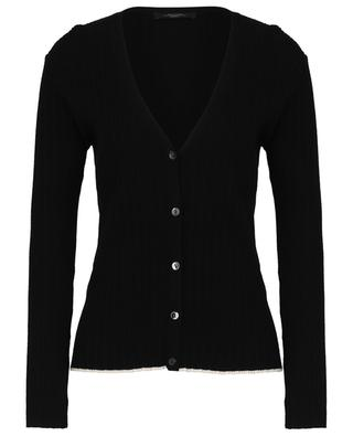 Catia fine rib V-neck button-down cardigan WEEKEND MAXMARA