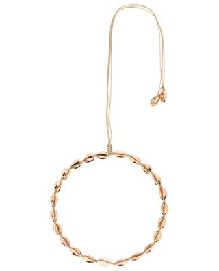 Puka Small pink gold and natural shell necklace TOHUM