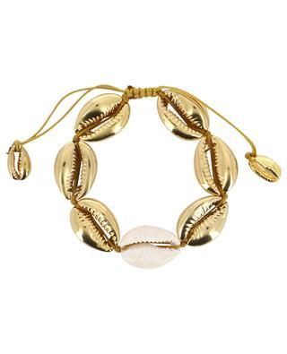 Armband aus gelbgoldenen und natürlichen Kaurischnecken Concha Large TOHUM