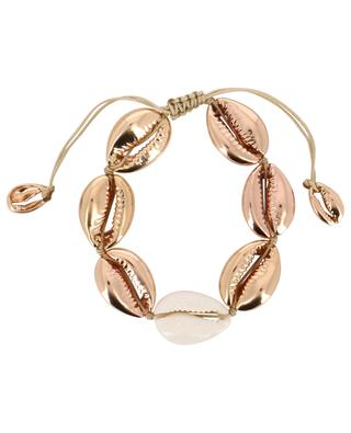 Concha Large pink gold and natural cowrie bracelet TOHUM