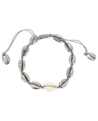 Armband aus Kaurischnetten und Graugold Puka Small TOHUM