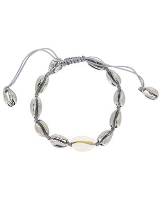 Puka Small grey gold and cowrie shell bracelet TOHUM