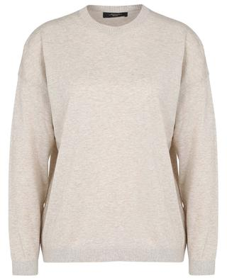 Erasmo loose thin cotton and wool jumper WEEKEND MAXMARA