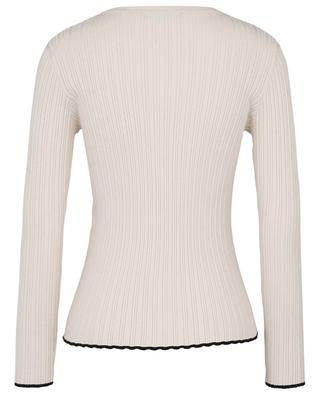 Apice beige sheath jumper with black trims WEEKEND MAXMARA
