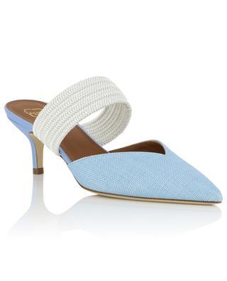 Maisie raffia and leather pumps MALONE SOULIERS