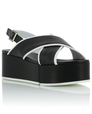 Myrta platform leather sandals CLERGERIE