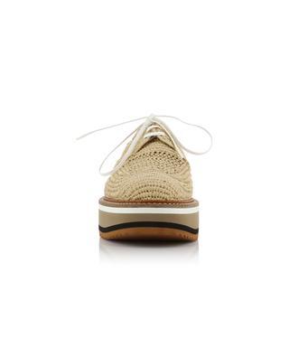 Birdie braided raffia wedge derby shoes CLERGERIE