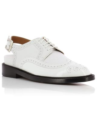 Genius open perforated leather derby shoes CLERGERIE