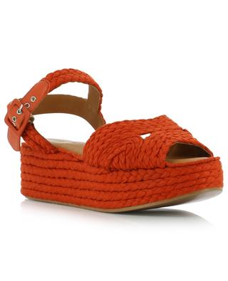 Alda3 braided cotton wedge sandals CLERGERIE