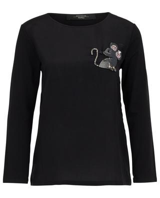 Besticktes langarm-T-Shirt aus Jersey und Seide Faggi WEEKEND MAXMARA