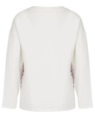 Langärmliges Top aus Baumwolle und Seide mit Print Nero WEEKEND MAXMARA