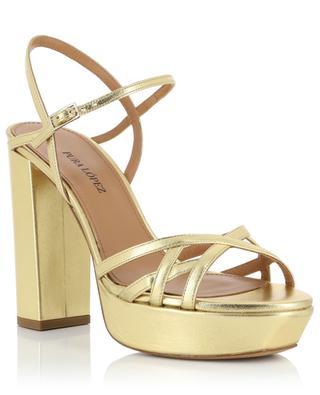 Sandales à plateau en cuir doré Quinea PURA LOPEZ