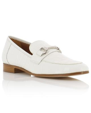 Kissa croc embossed leather loafers BONGENIE GRIEDER