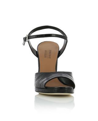 Kissa block heeled croc embossed leather sandals BONGENIE GRIEDER