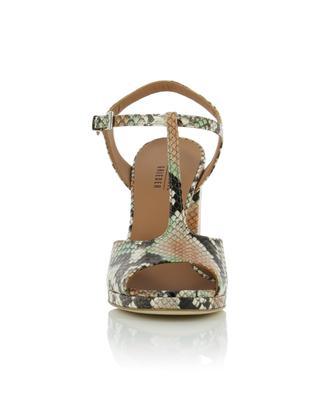 Patagonia python effect block heel sandals BONGENIE GRIEDER