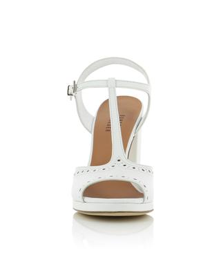 Perforated open leather sandals BONGENIE GRIEDER