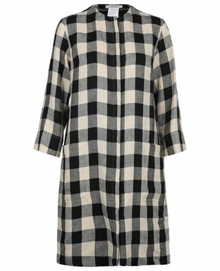 Satrapo straight fit linen gingham check dress 'S MAXMARA
