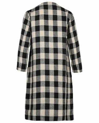 Gerades Kleid aus Leinen mit Vichy-Karos Satrapo 'S MAXMARA