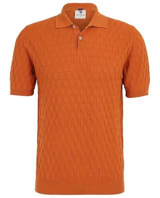 Lexi short-sleeved cotton and linen polo shirt MCLAUREN
