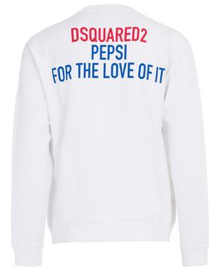 Sweat-shirt en coton imprimé feuille d'érable #D2XPEPSI DSQUARED2