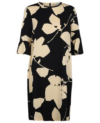 Orca leaf print straight crepe dress 'S MAXMARA