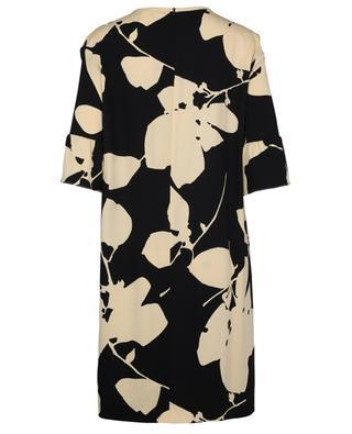 Gerades Kleid aus Crêpe mit Blätter-Print Orca 'S MAXMARA
