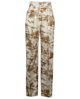 Hose aus Seidentwill mit weitem Bein und Print Acume MAX MARA