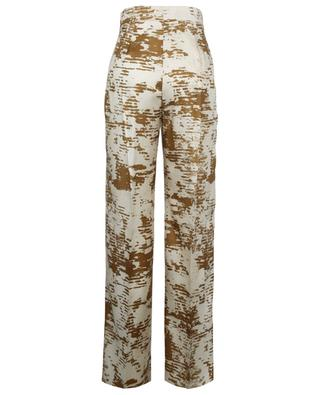 Acume printed wide-leg trousers in silk twill MAX MARA
