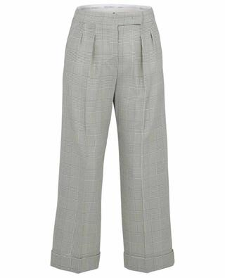 Pantalon large en laine motif prince-de-galles Erice MAX MARA