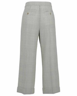 Erice wide-leg trousers with glen checks in wool MAX MARA