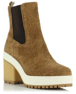 H475 heeled chelsea ankle boots in suede HOGAN