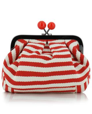 Mini Pasticcino Tina striped cotton clutch WEEKEND MAXMARA
