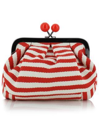 Mini Pasticcino Tina striped cotton clutch WEEKEND MAXMARA
