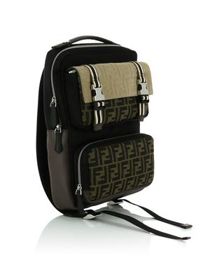 FF logo nylon and suede backpack FENDI