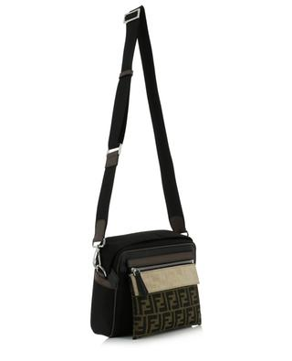 Messenger nylon, leather and suede bag FENDI