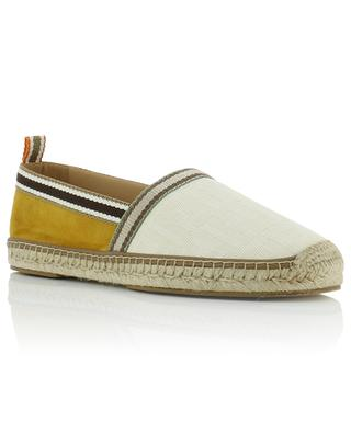 Suede and FF canvas espadrilles FENDI